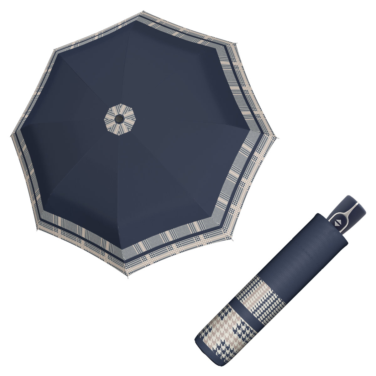 Doppler Magic Fiber TIMELESS - dámský skládací plně-automatický deštník bordura