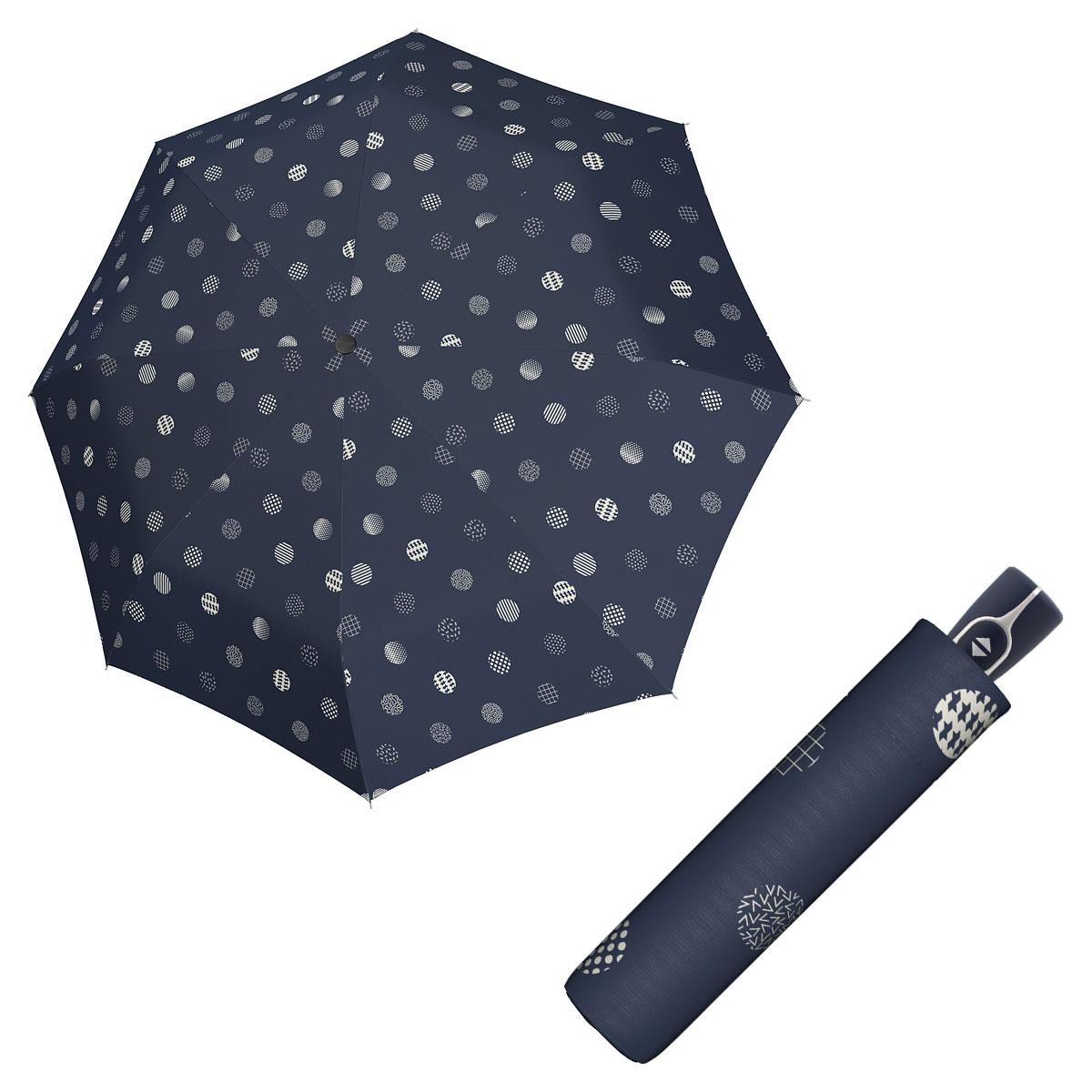 Doppler Magic Fiber TIMELESS - dámský skládací plně-automatický deštník puntíky
