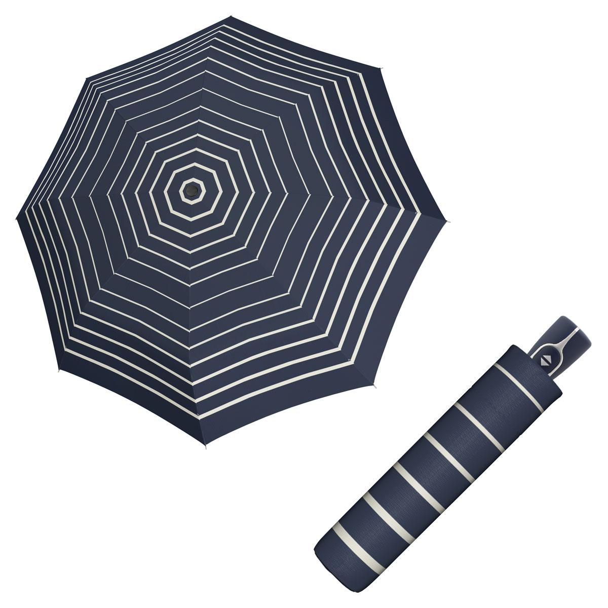 Doppler Magic Fiber TIMELESS - dámský skládací plně-automatický deštník proužky