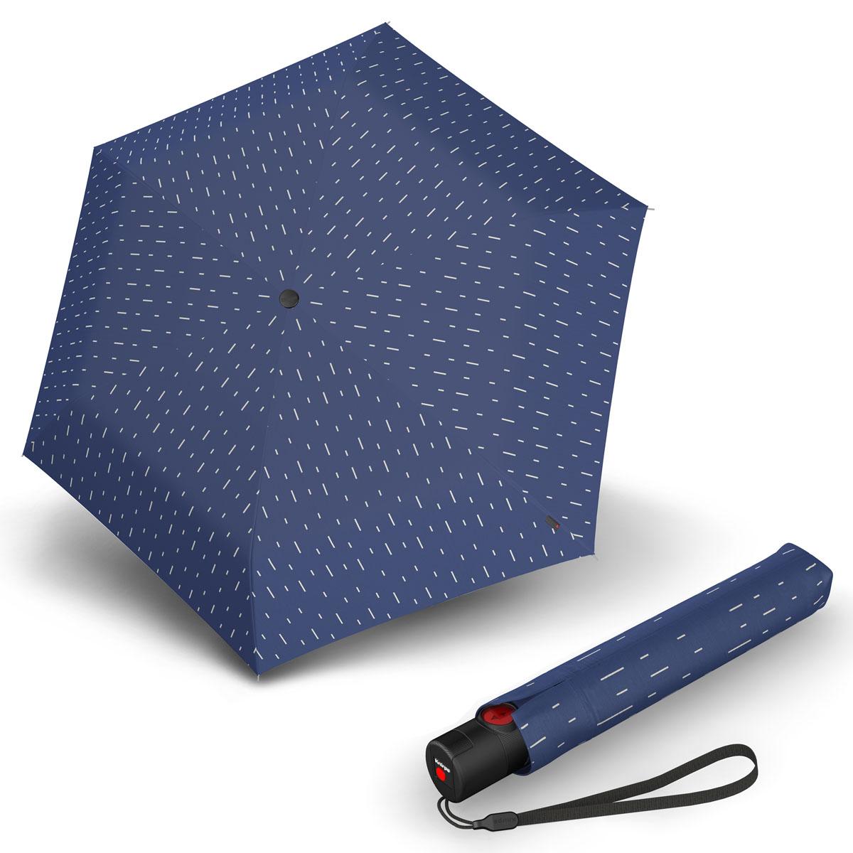 Knirps U.200 Medium Duomatic Rain Blue - plně automatický deštník