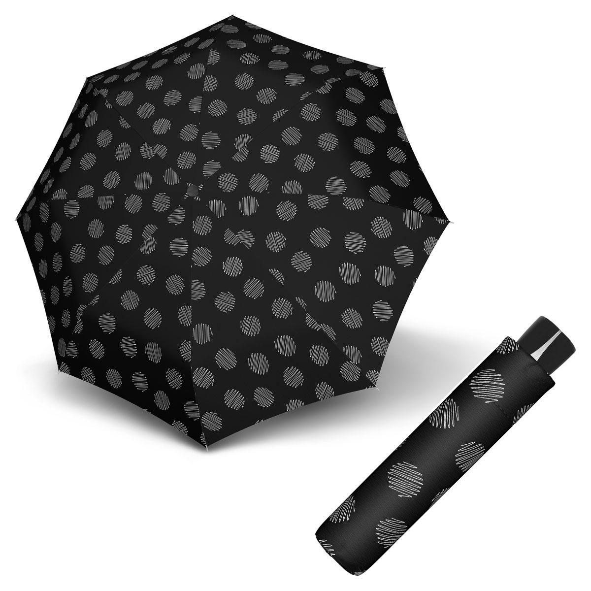 Doppler Mini Fiber SOUL - dámský skládací odlehčený deštník černá