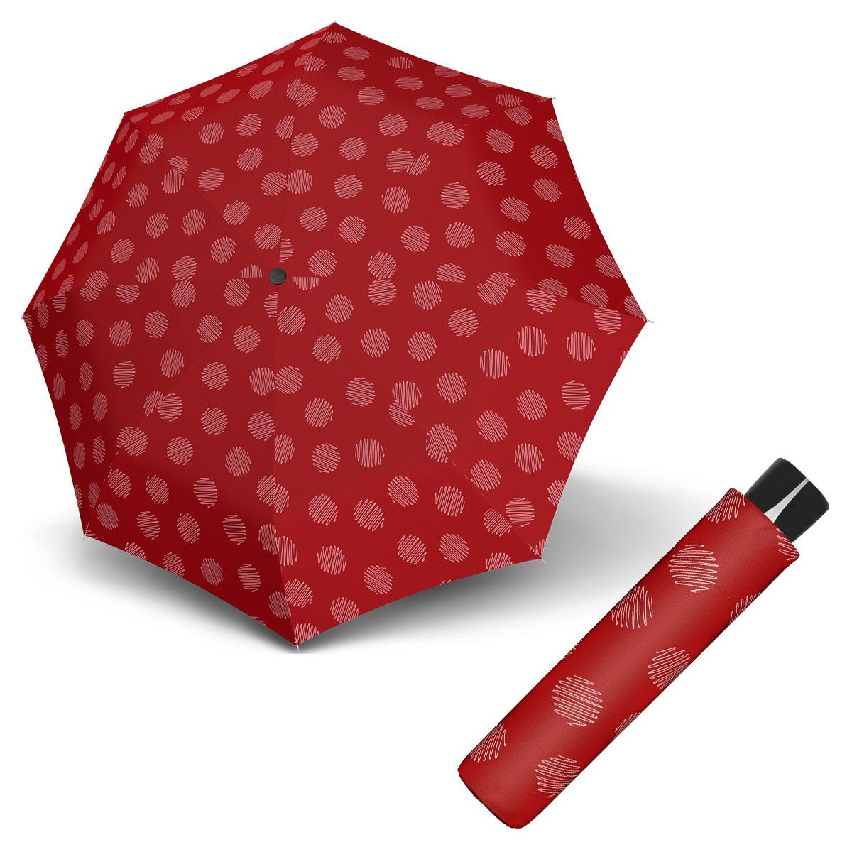 Doppler Mini Fiber SOUL - dámský skládací odlehčený deštník červená