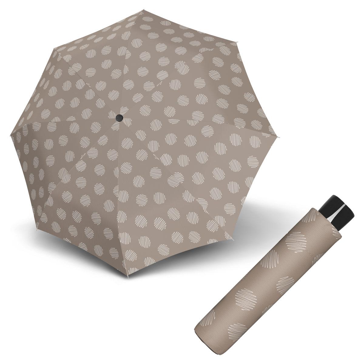 Doppler Mini Fiber SOUL - dámský skládací odlehčený deštník béžová