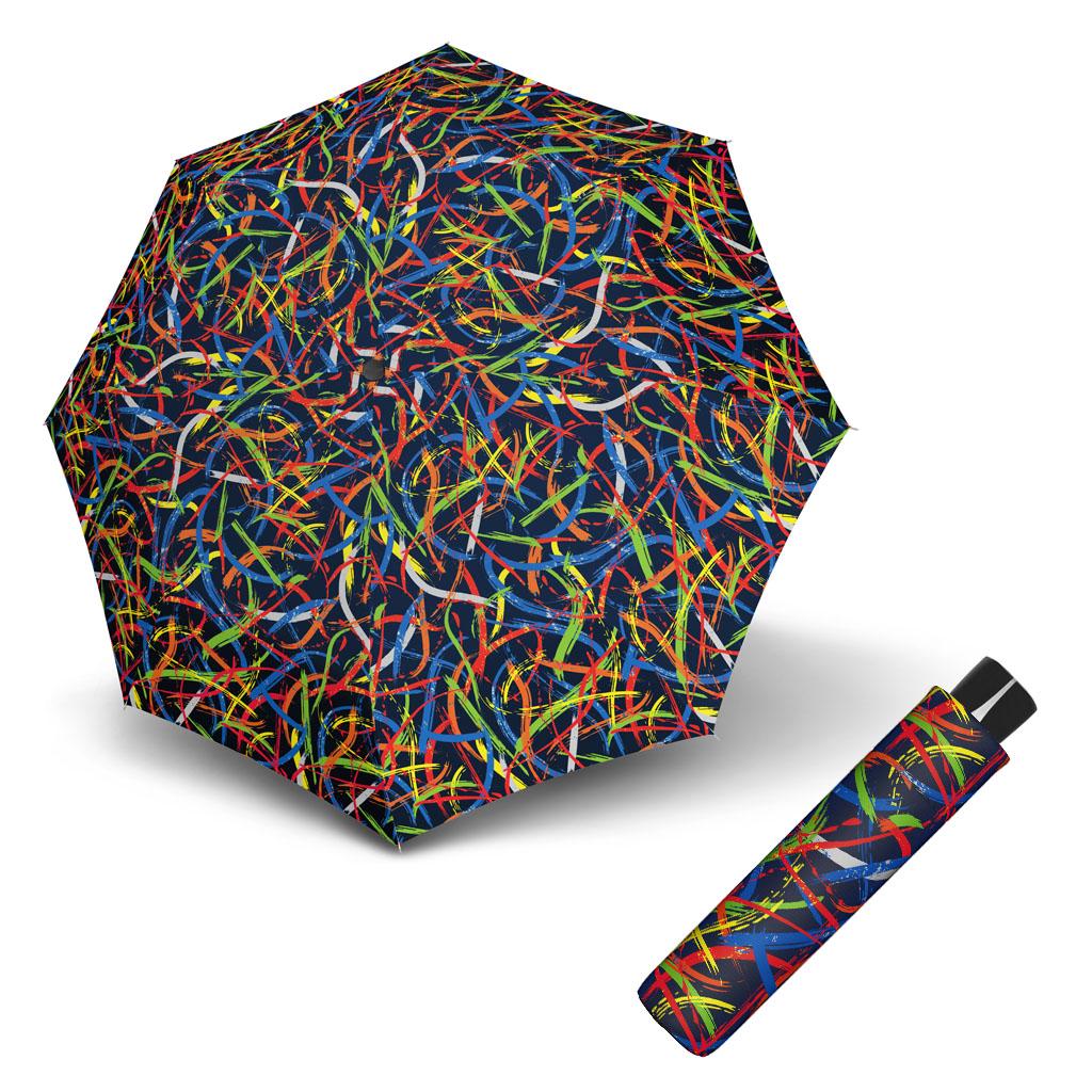 Doppler Mini Fiber EXPRESSION - dámský skládací odlehčený deštník vzor 2