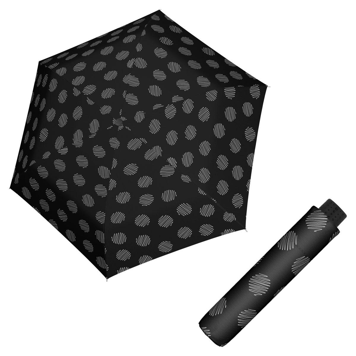 Doppler Havanna Fiber SOUL - dámský ultralehký mini deštník černá