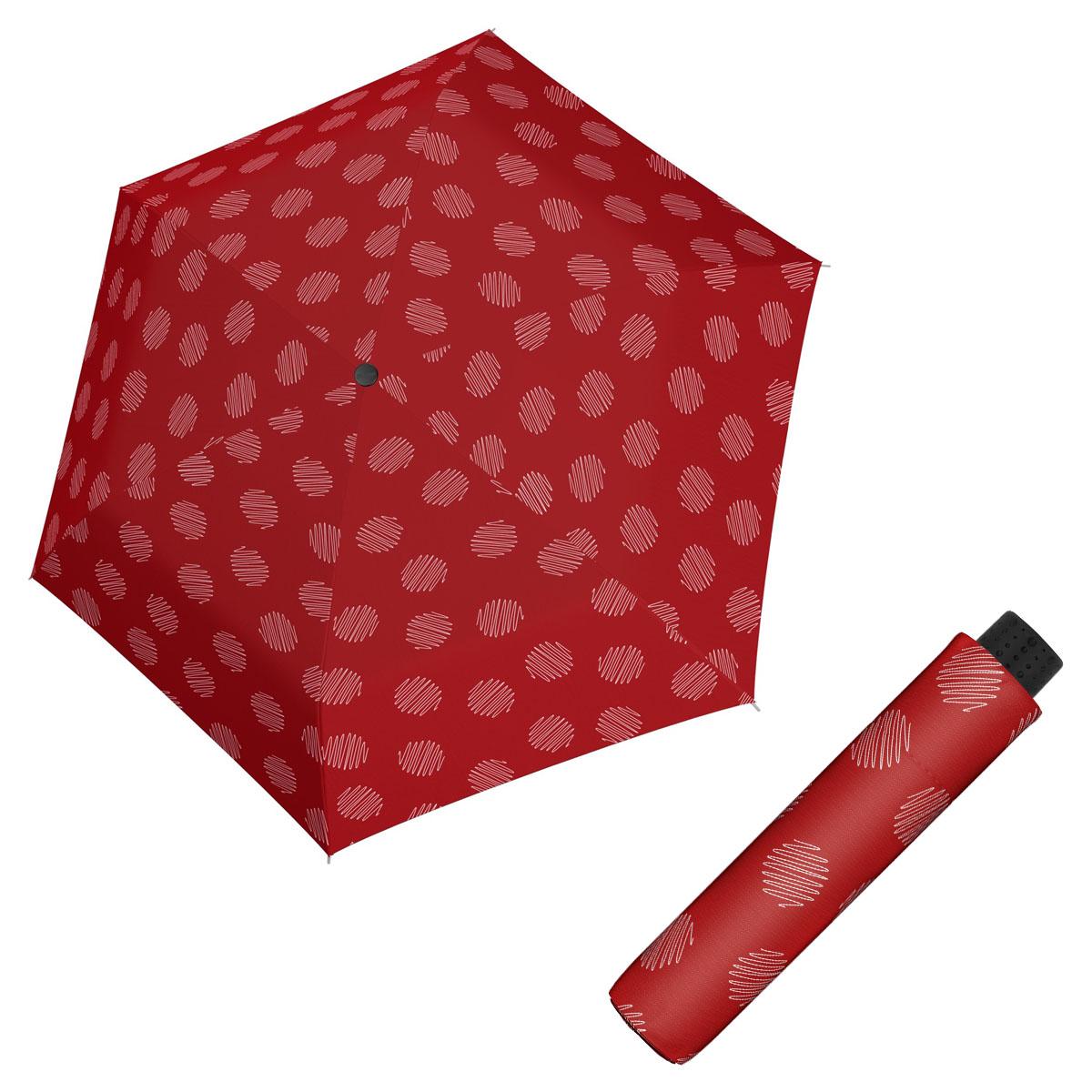 Doppler Havanna Fiber SOUL - dámský ultralehký mini deštník červená