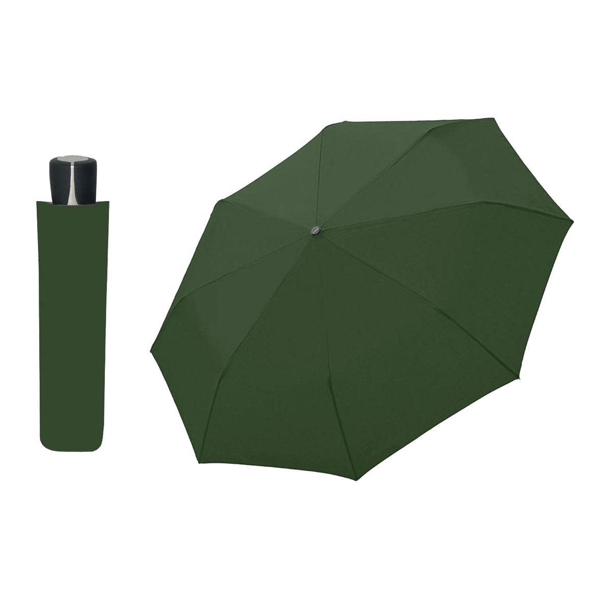 DOPPLER Mini Fiber tmavě zelený - dámský/pánský skládací deštník
