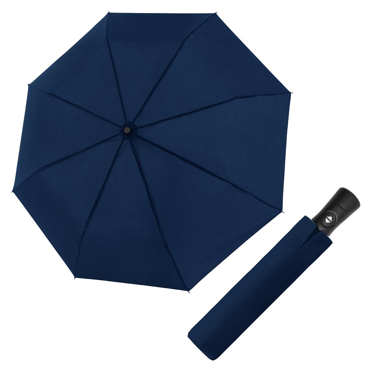 Doppler Magic Fiber Superstrong tmavě modrý - pánský plně-automatický deštník