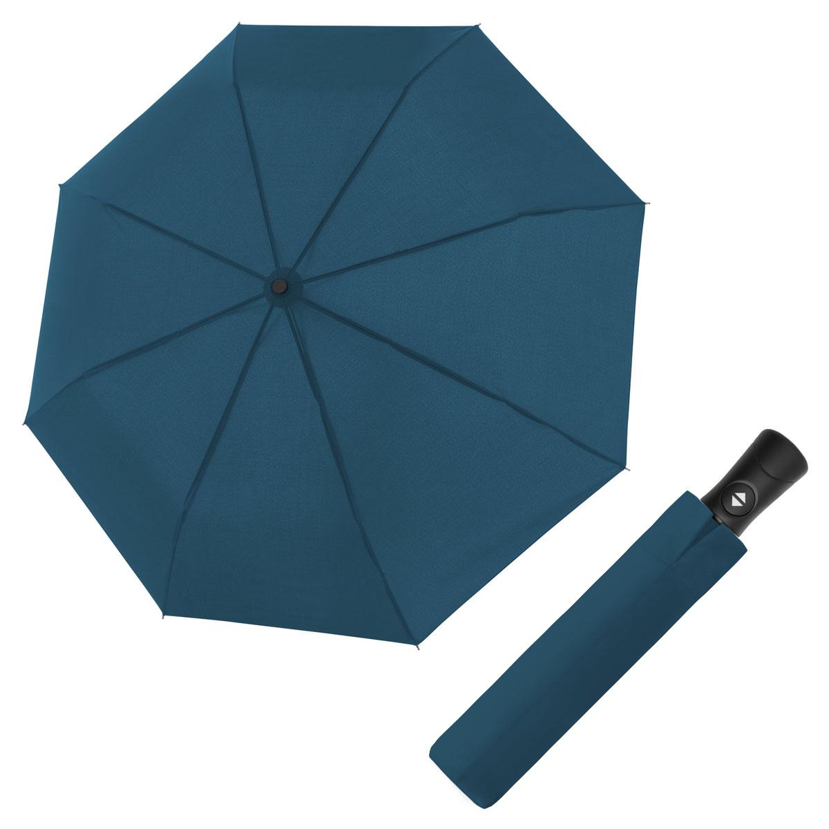 Doppler Magic Fiber Superstrong modrý - pánský plně-automatický deštník