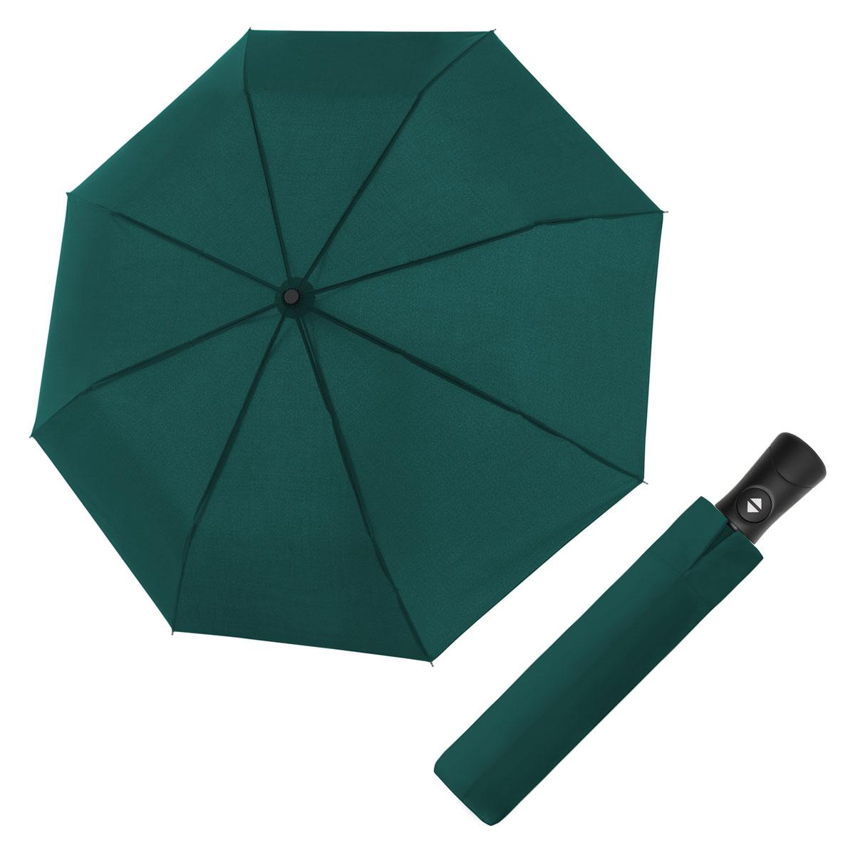 Doppler Magic Fiber Superstrong tmavě zelený - pánský plně-automatický deštník