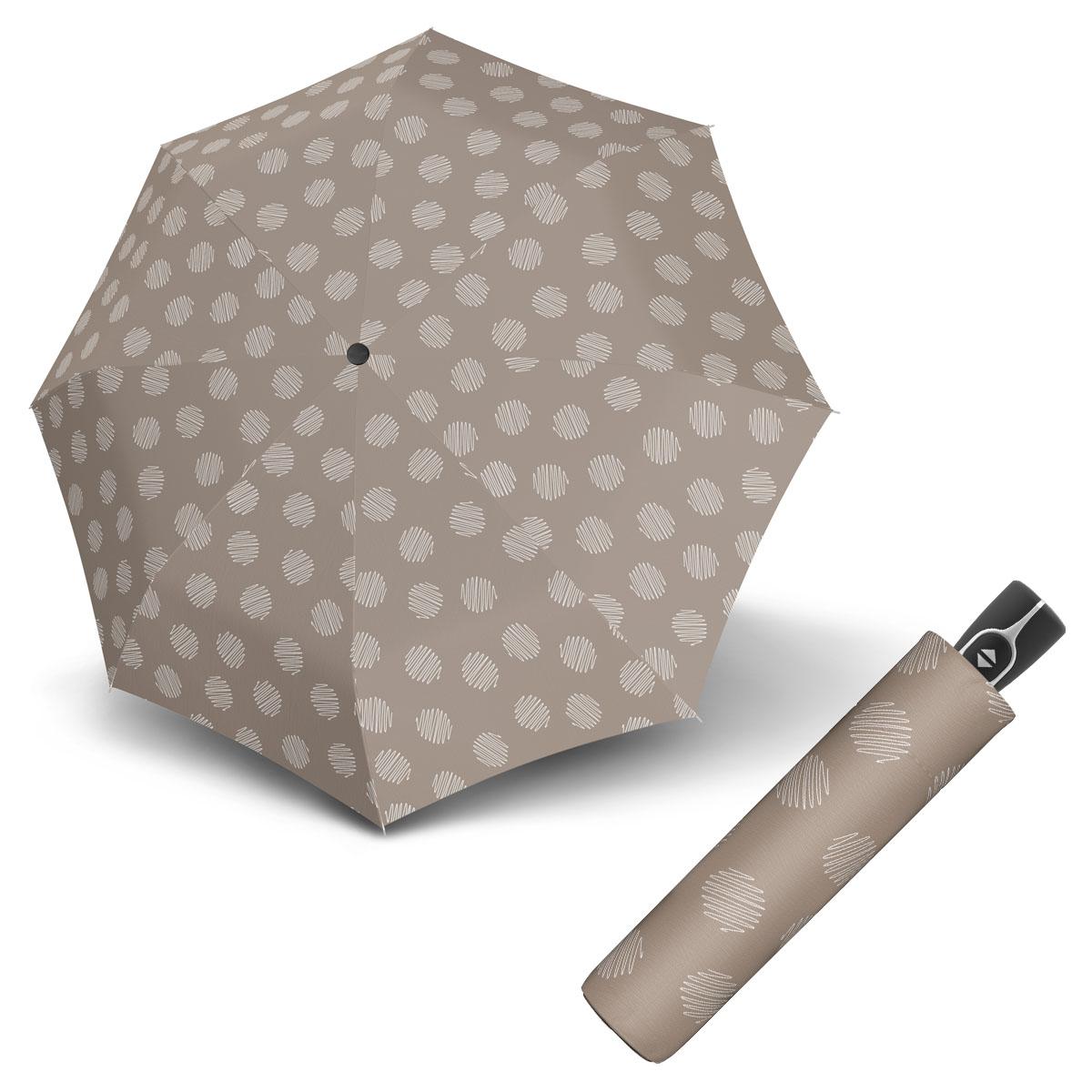 Doppler Magic Fiber SOUL - dámský skládací plně-automatický deštník béžová