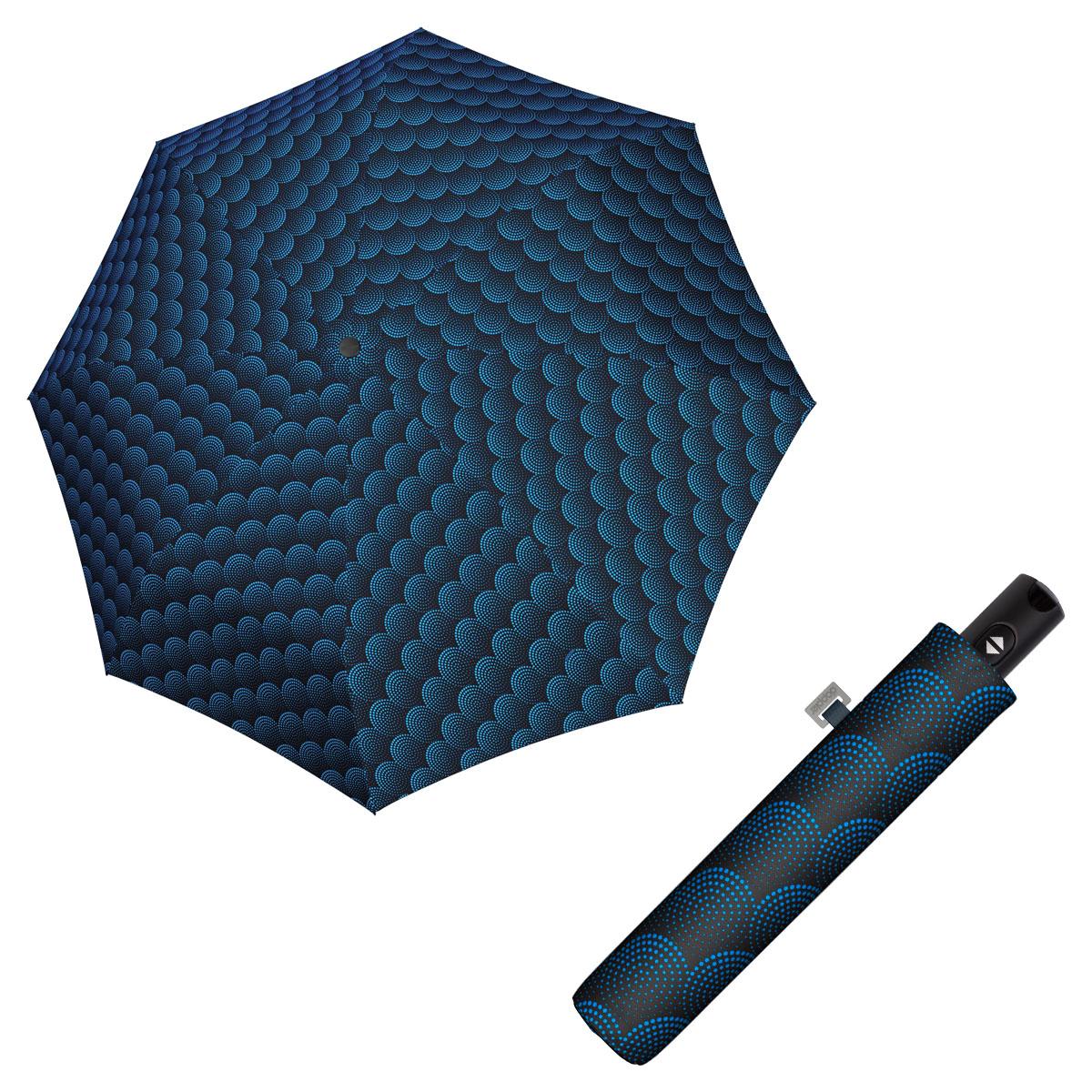 Doppler Magic Carbonsteel TWISTER - dámský plně automatický deštník modrá