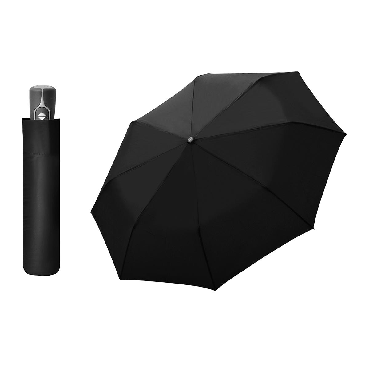 Doppler Magic Fiber černý - dámský/pánský plně-automatický deštník