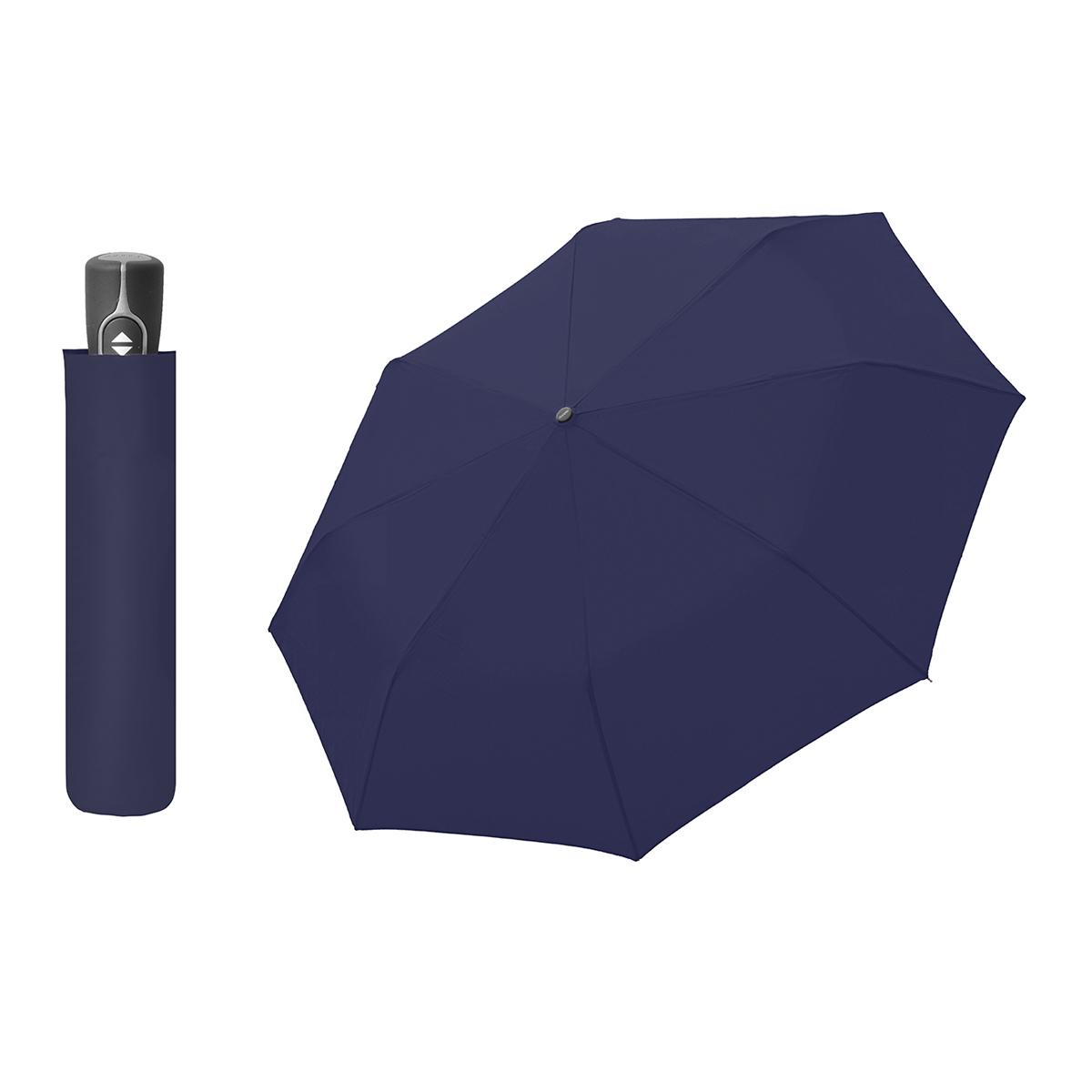 Doppler Magic Fiber tmavě modrý - dámský/pánský plně-automatický deštník