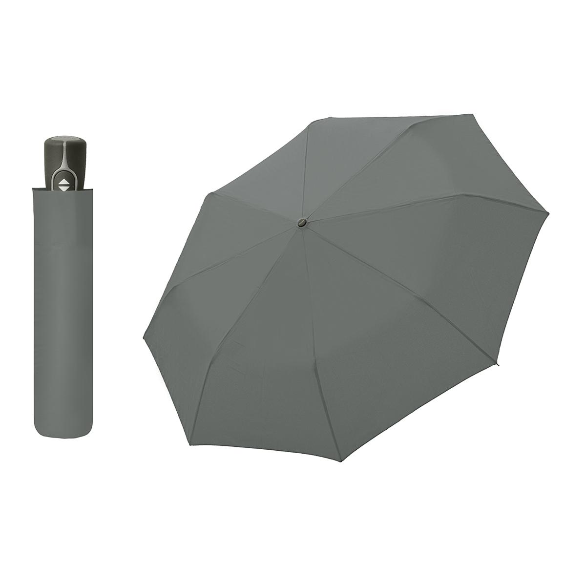 Doppler Magic Fiber šedý - dámský / pánský plně-automatický deštník