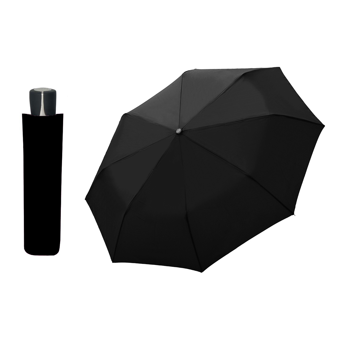 DOPPLER Mini Fiber černý - dámský/pánský skládací deštník