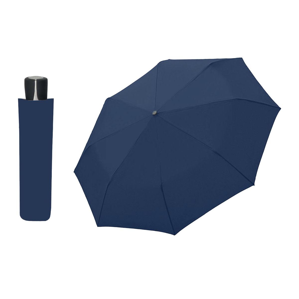 DOPPLER Mini Fiber tmavě modrý - dámský/pánský skládací deštník