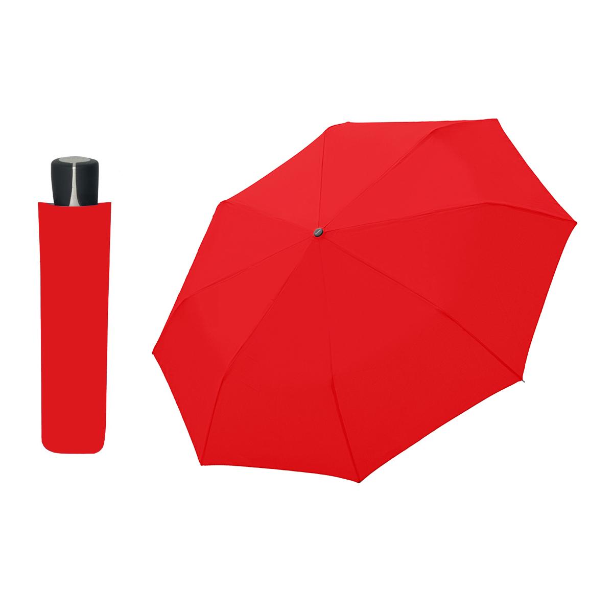 DOPPLER Mini Fiber červený - dámský skládací deštník