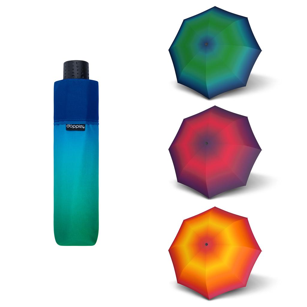 Doppler Havanna Fiber NEW YORK - dámský ultralehký mini deštník modro-zelená