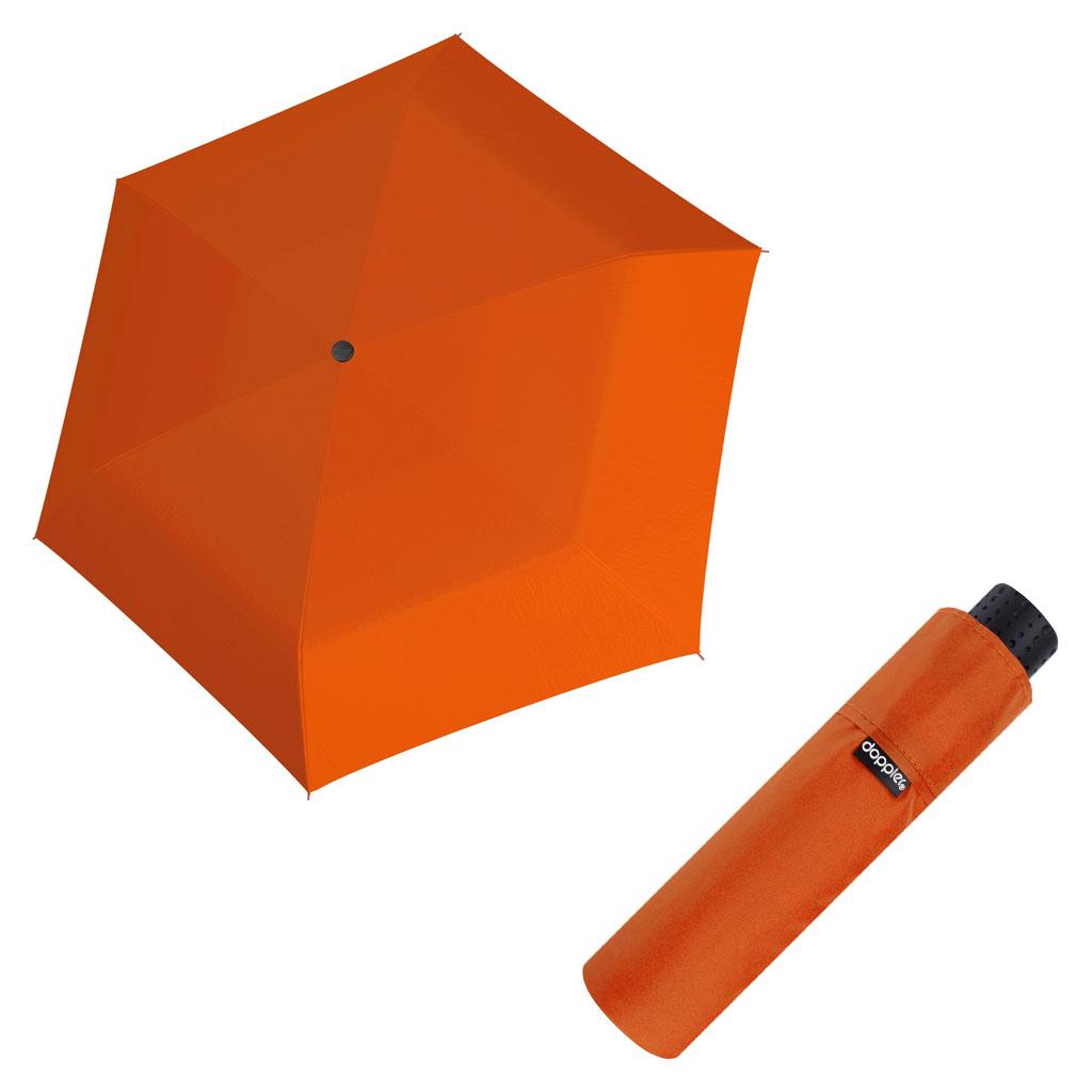 Doppler Havanna Fiber UNI 26 - dámský ultralehký mini deštník oranžová