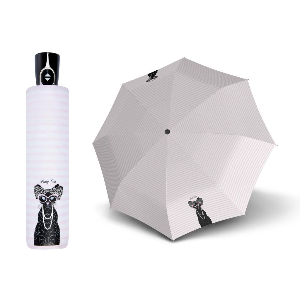 Doppler Magic Fiber LADY CATS - dámský plně-automatický deštník