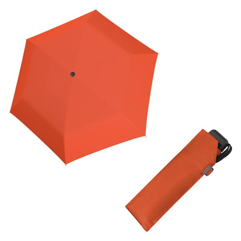 Doppler Mini Slim Carbonsteel UNI 26 - dámský plochý skládací deštník oranžová