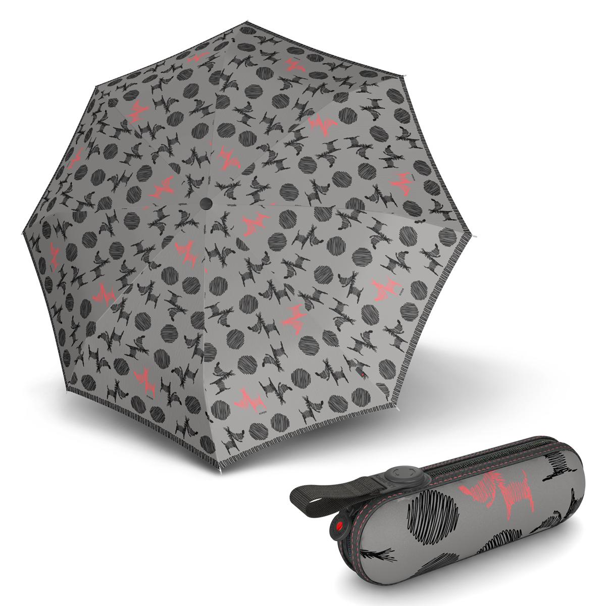 Knirps X1 Christina Grey - dámský skládací mini deštník