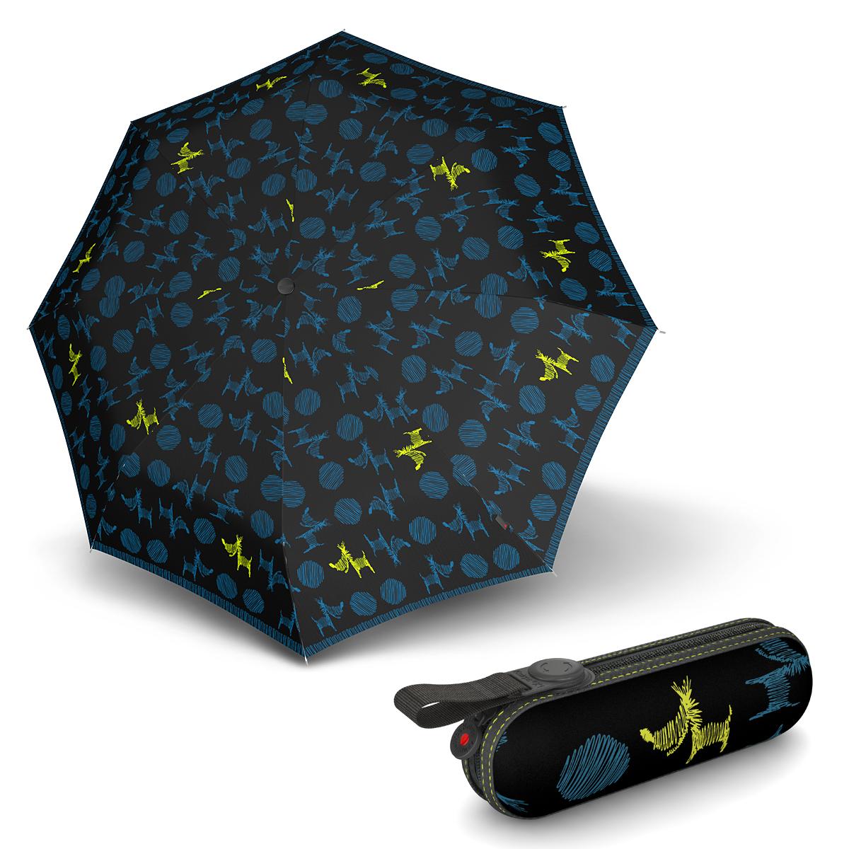 Knirps X1 Christina Blue - dámský skládací mini deštník