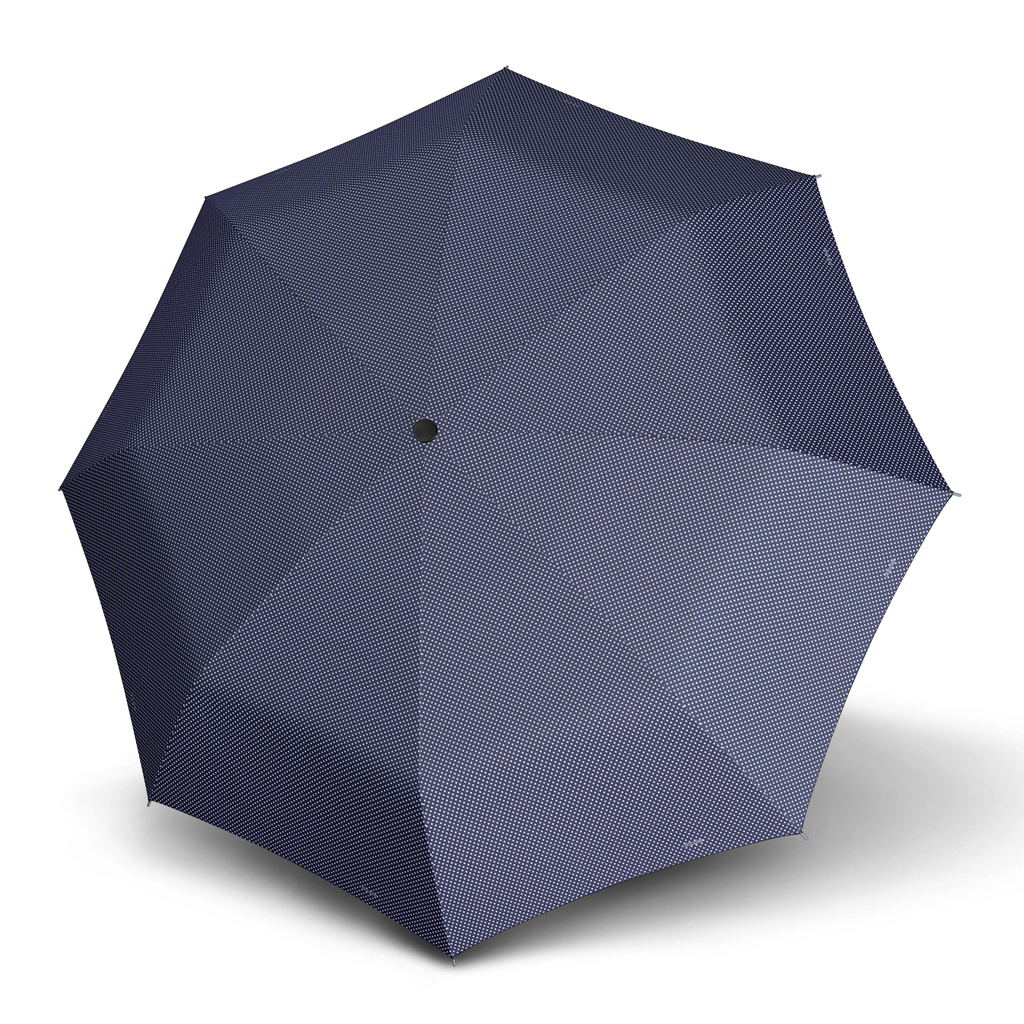 Doppler Mini Slim Carbonsteel CHIC - dámský plochý skládací deštník modrá