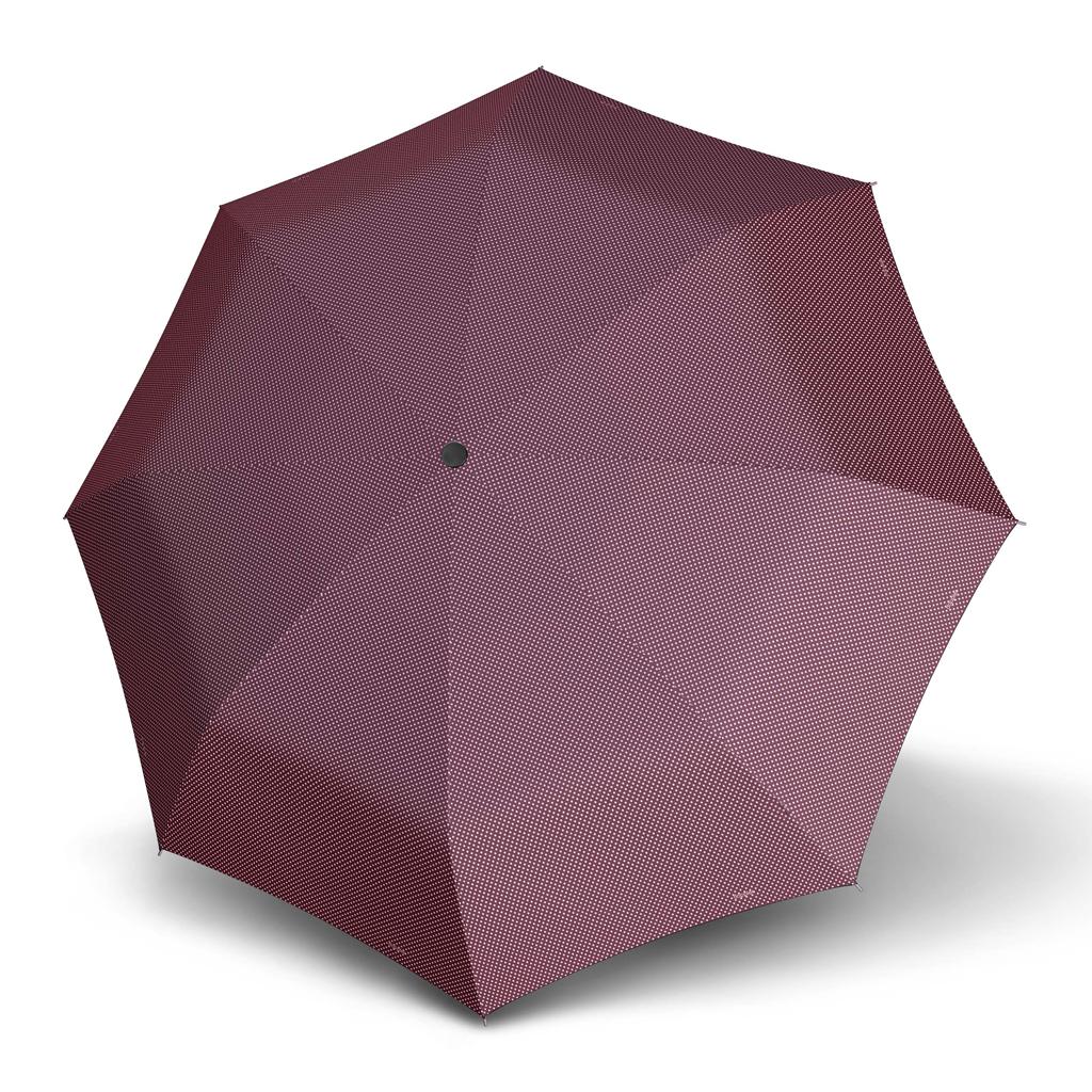 Doppler Mini Slim Carbonsteel CHIC - dámský plochý skládací deštník vínová