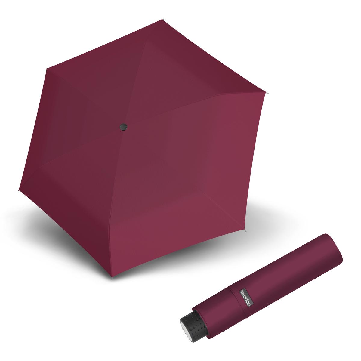 Doppler Havanna Fiber UNI 26 - dámský ultralehký mini deštník vínová