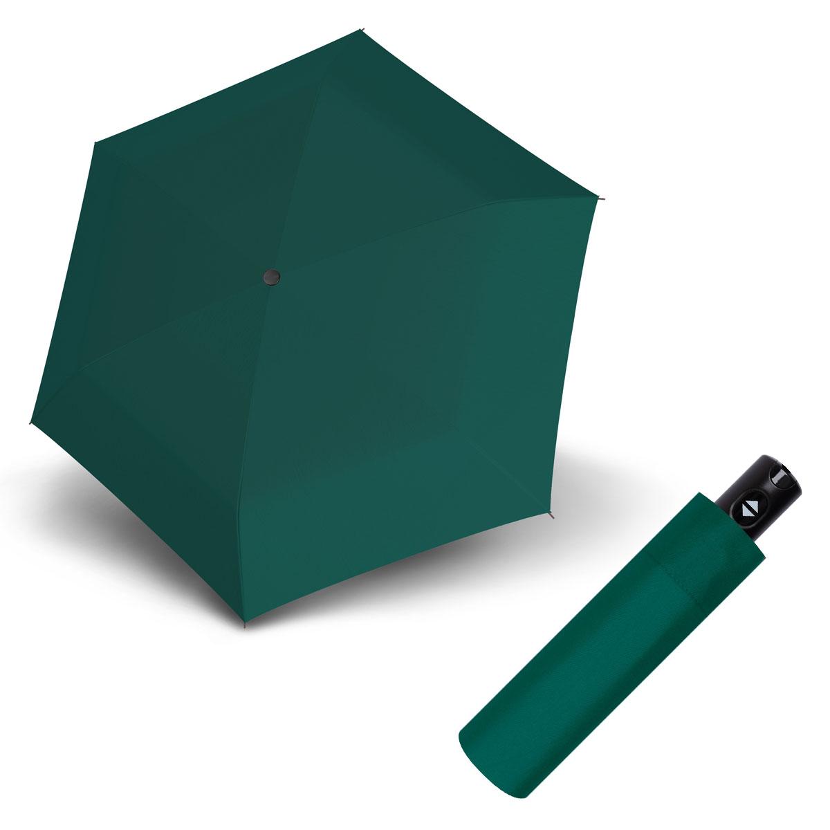 Doppler Magic XS Carbonsteel 26 - dámský plně-automatický deštník tmavě zelená