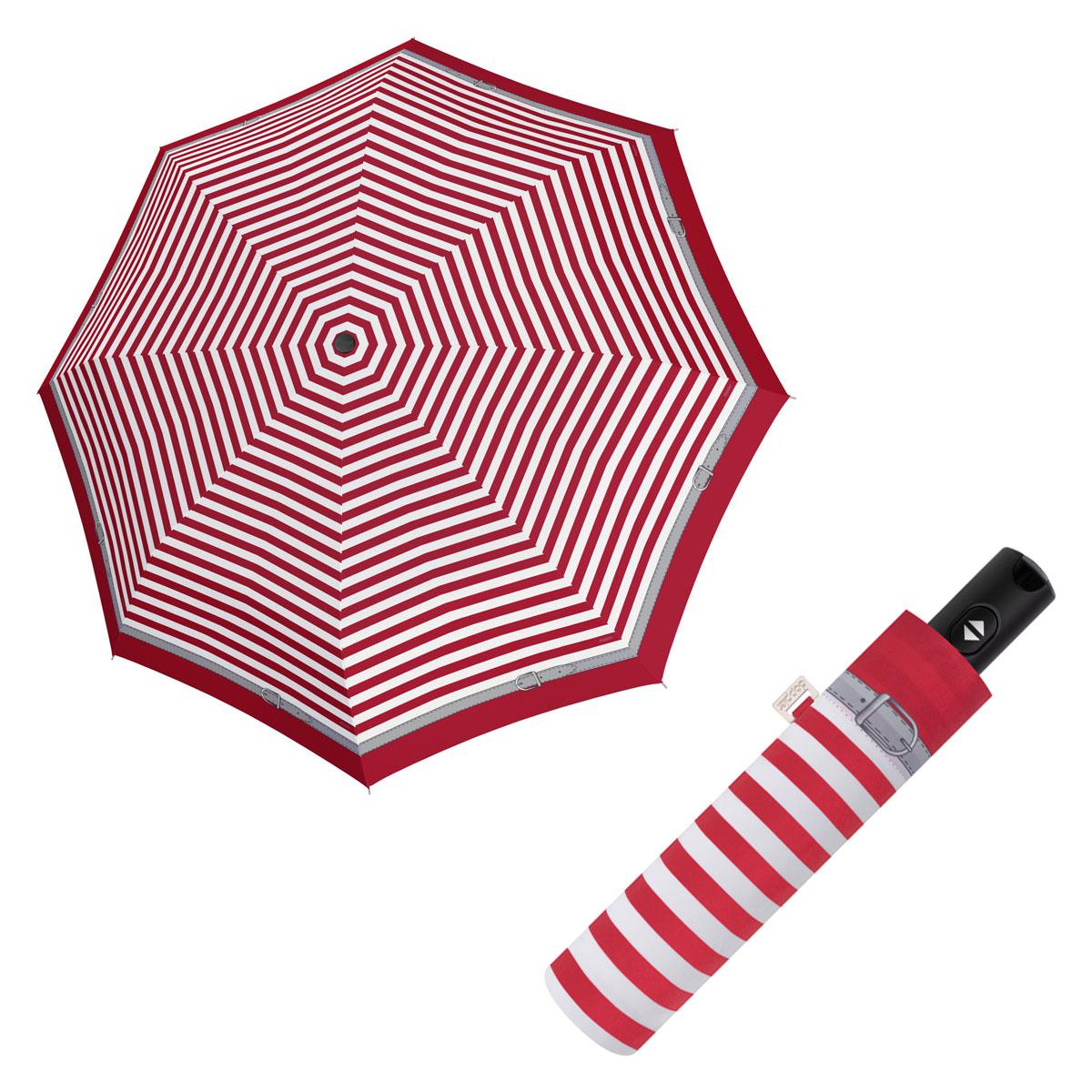 Doppler Magic Carbonsteel DELIGHT - dámský plně-automatický deštník červená