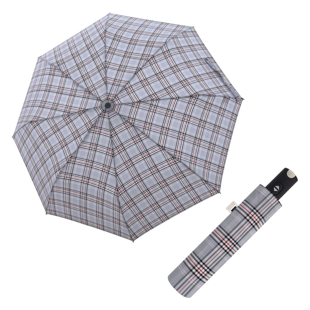 Doppler Magic Carbonsteel káro - dámský plně-automatický deštník vzor 3
