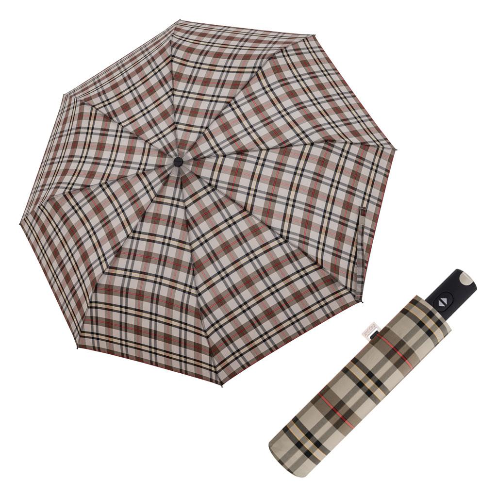 Doppler Magic Carbonsteel káro - dámský plně-automatický deštník vzor 4
