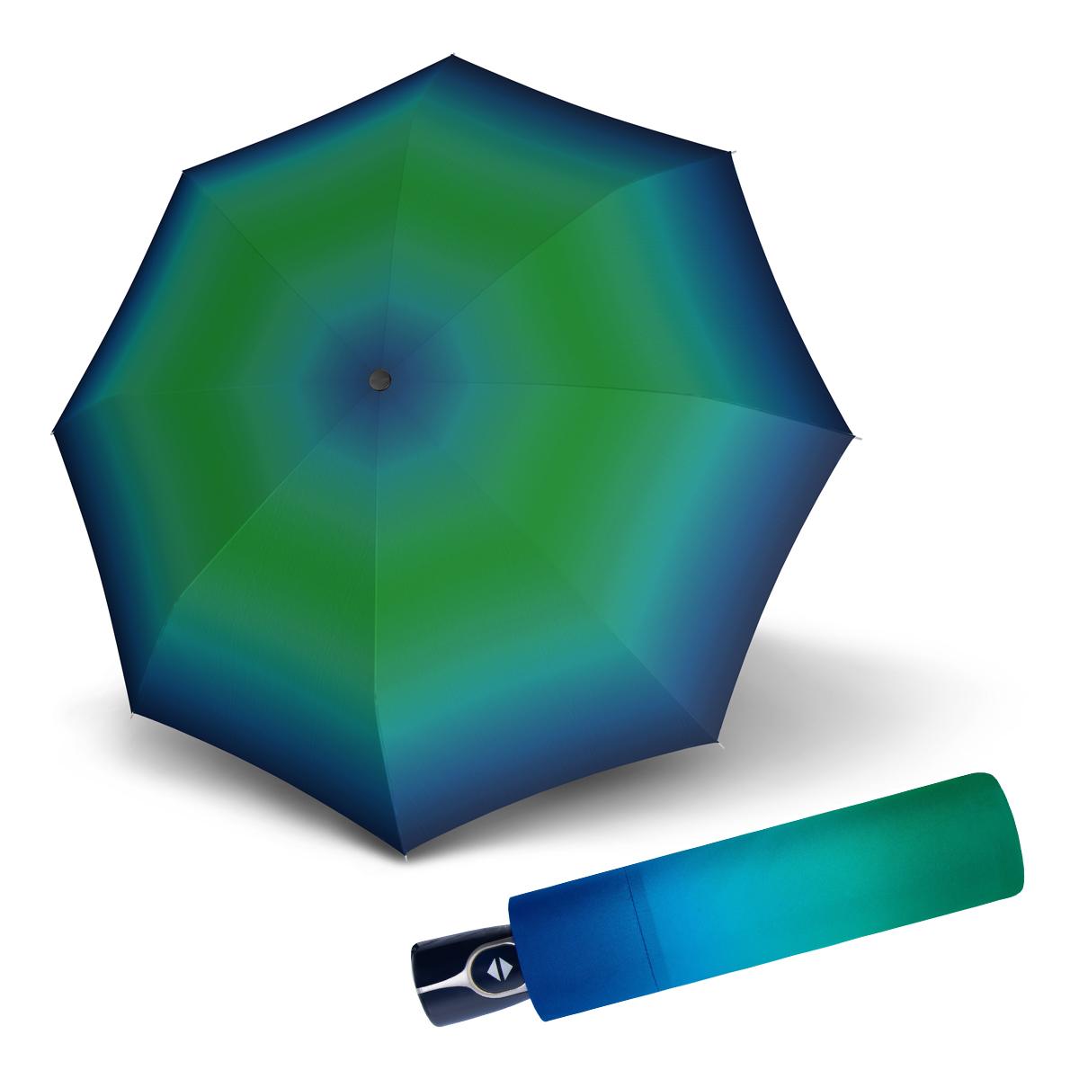 Doppler Magic Fiber NEW YORK - dámský skládací plně-automatický deštník modro-zelená