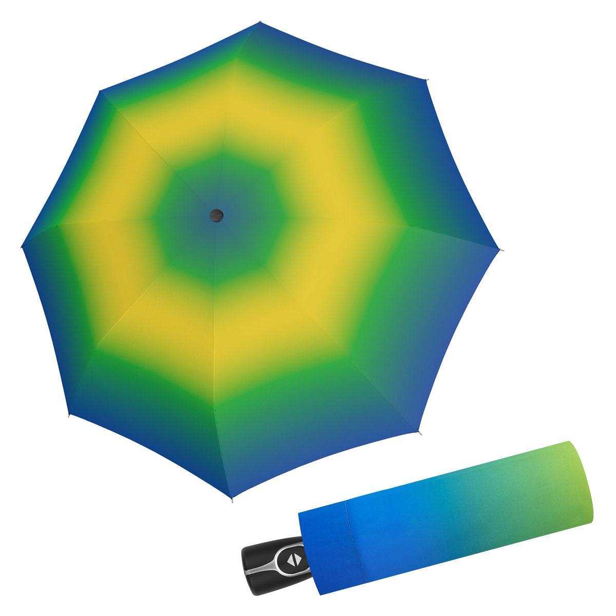 Doppler Magic Fiber SPIRIT - dámský skládací plně-automatický deštník žluto-zelená