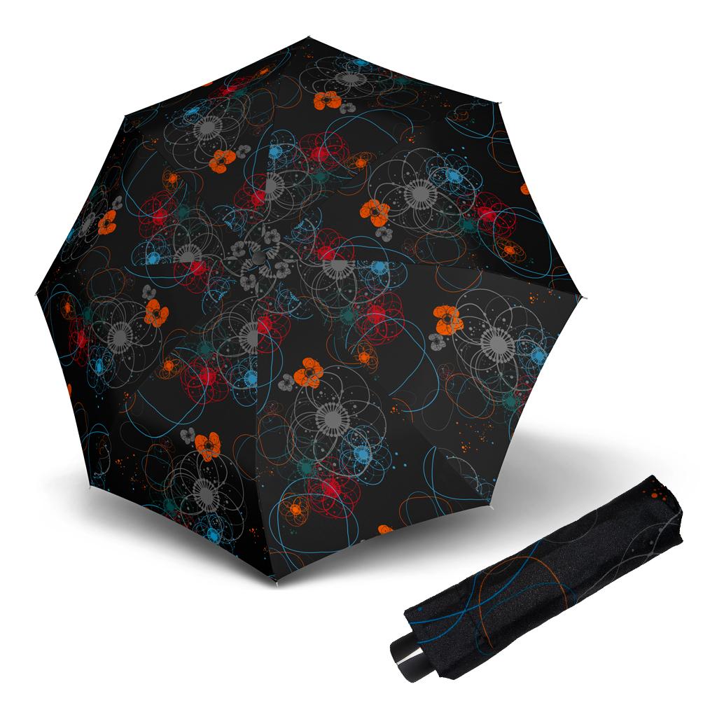 Doppler Mini Fiber BARCELONA - dámský skládací mechanický deštník černá