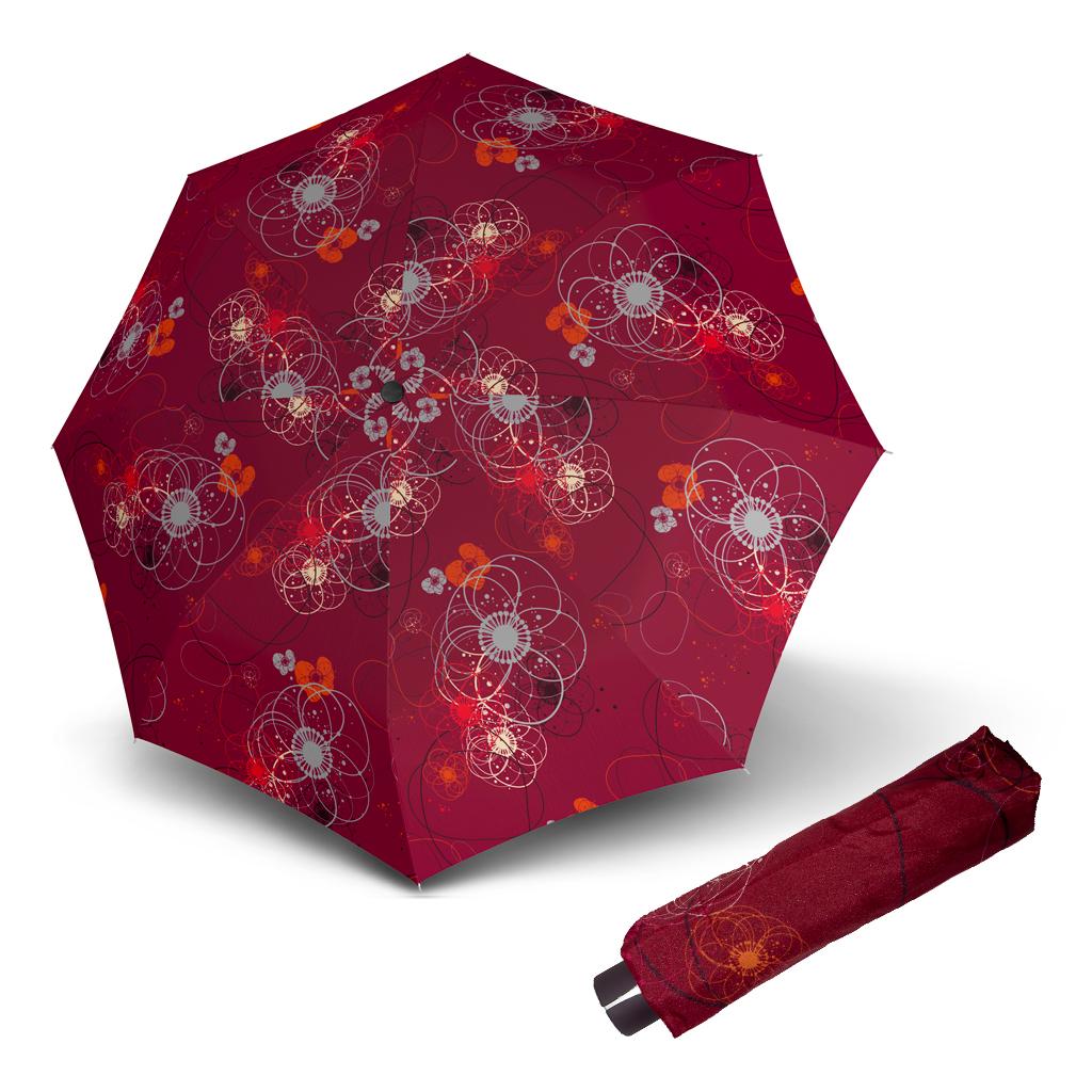 Doppler Mini Fiber BARCELONA - dámský skládací mechanický deštník vínová