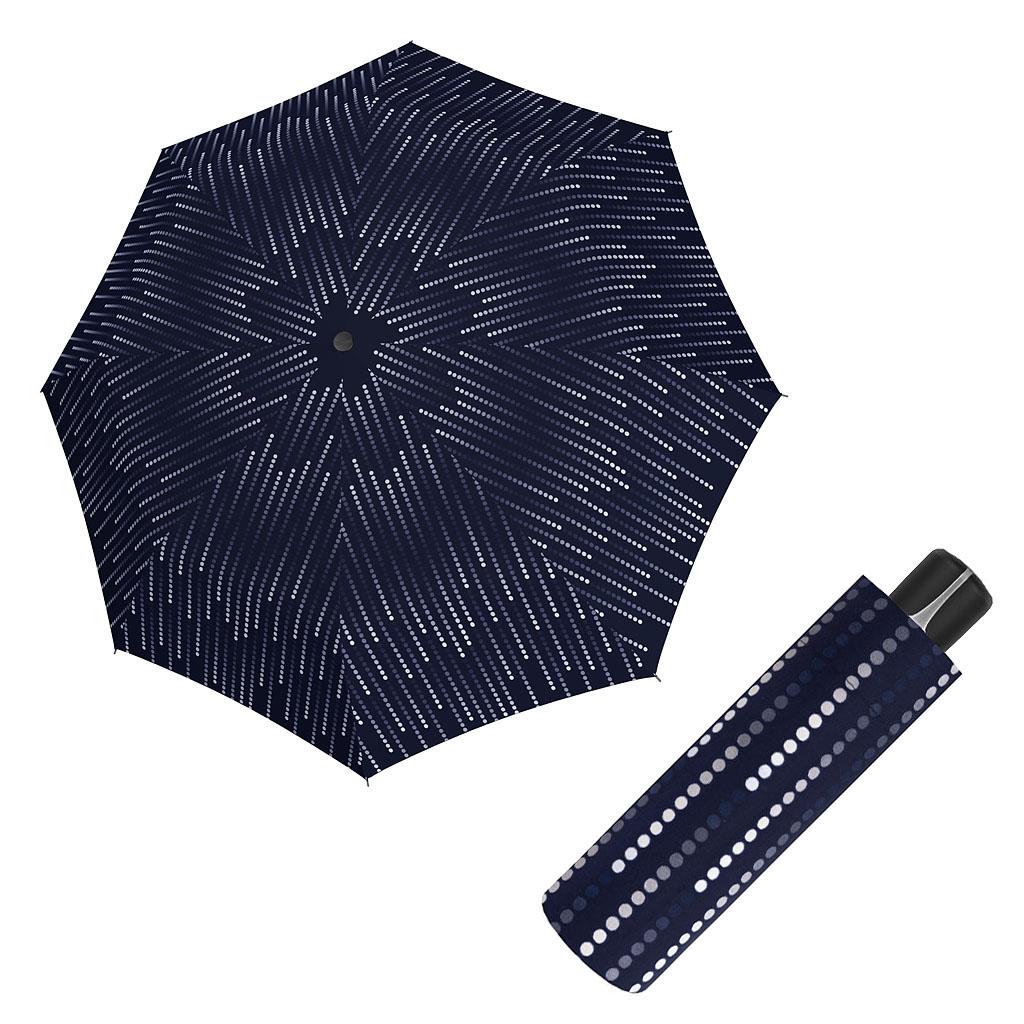 Doppler Mini Fiber GLAMOUR - dámský skládací mechanický deštník tmavě modrá
