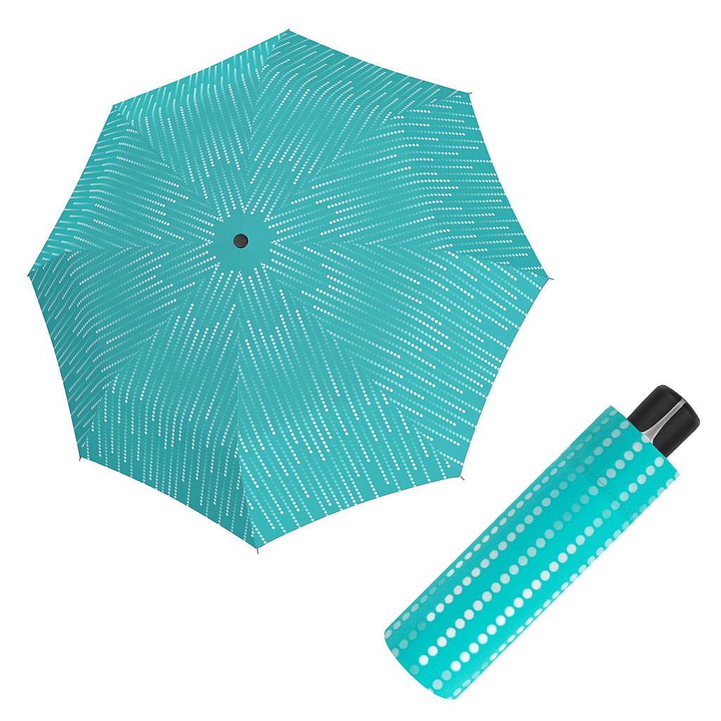 Doppler Mini Fiber GLAMOUR - dámský skládací mechanický deštník tyrkysová