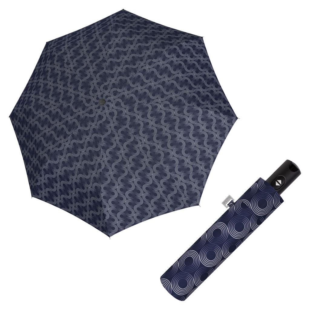 Doppler Magic Carbonsteel GLOW - dámský skládací plně-automatický deštník modrá