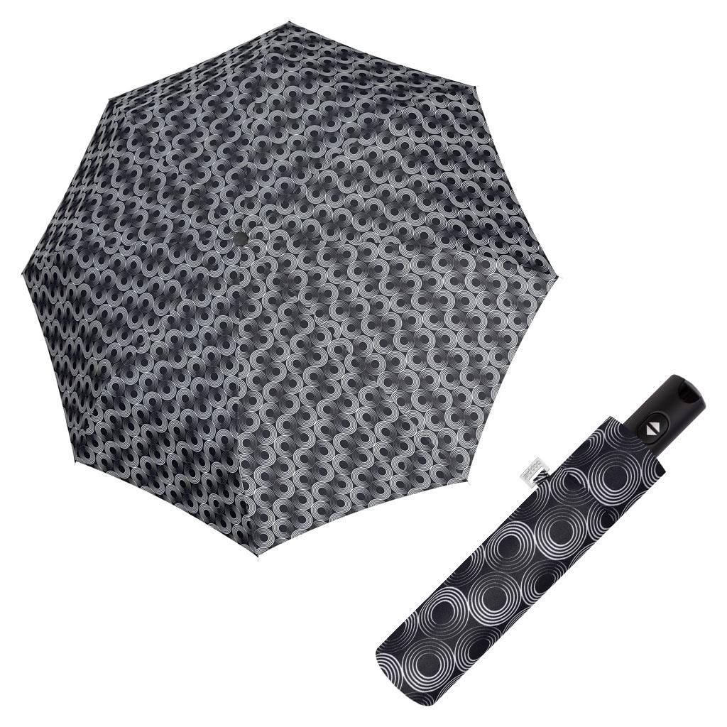 Doppler Magic Carbonsteel GLOW - dámský skládací plně-automatický deštník černá