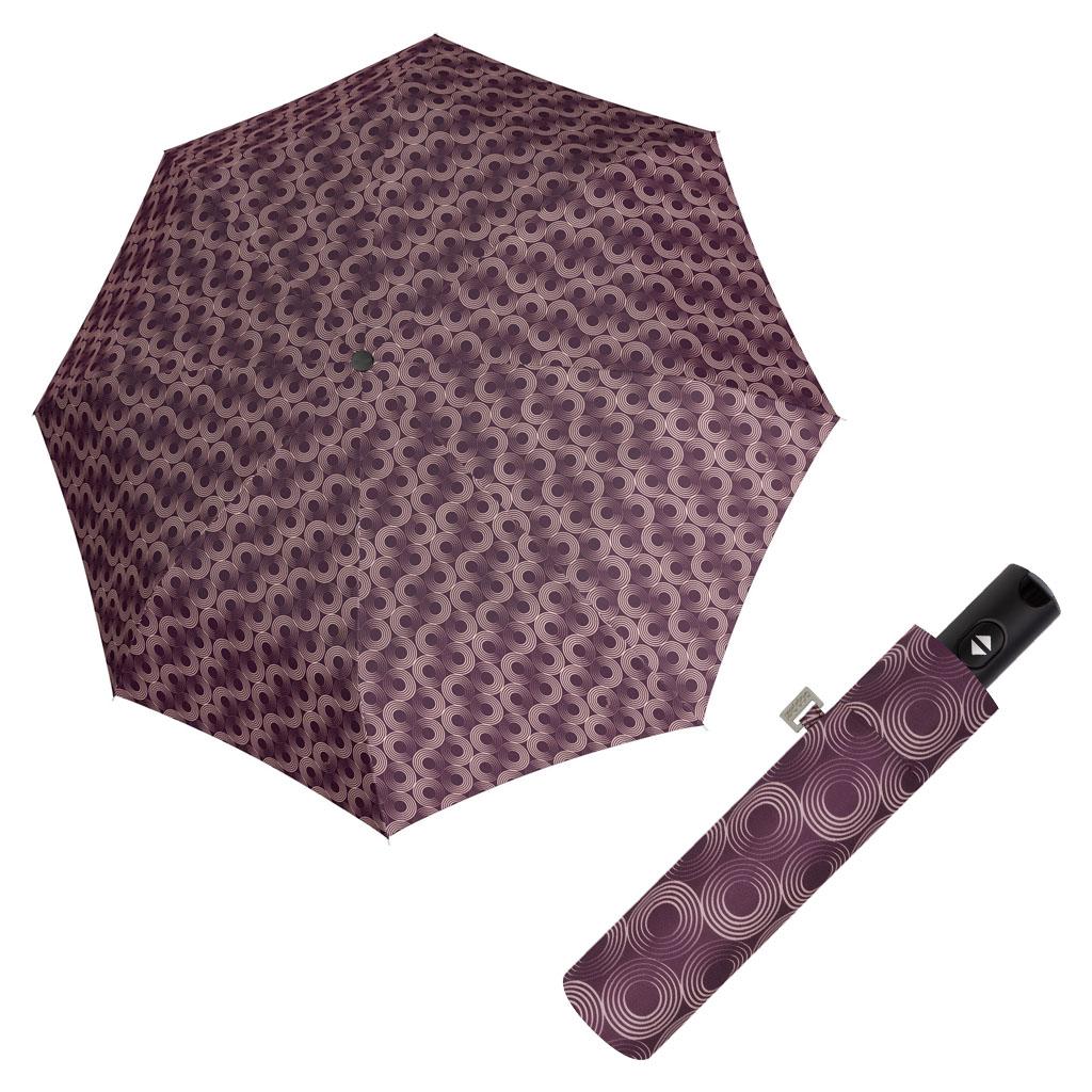 Doppler Magic Carbonsteel GLOW - dámský skládací plně-automatický deštník vínová