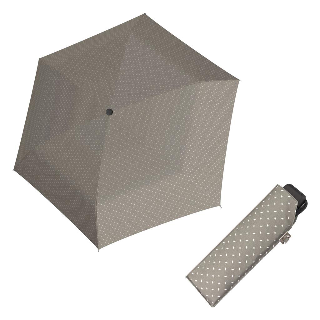 Doppler Mini Slim Carbonsteel ROYAL - dámský plochý skládací deštník béžová