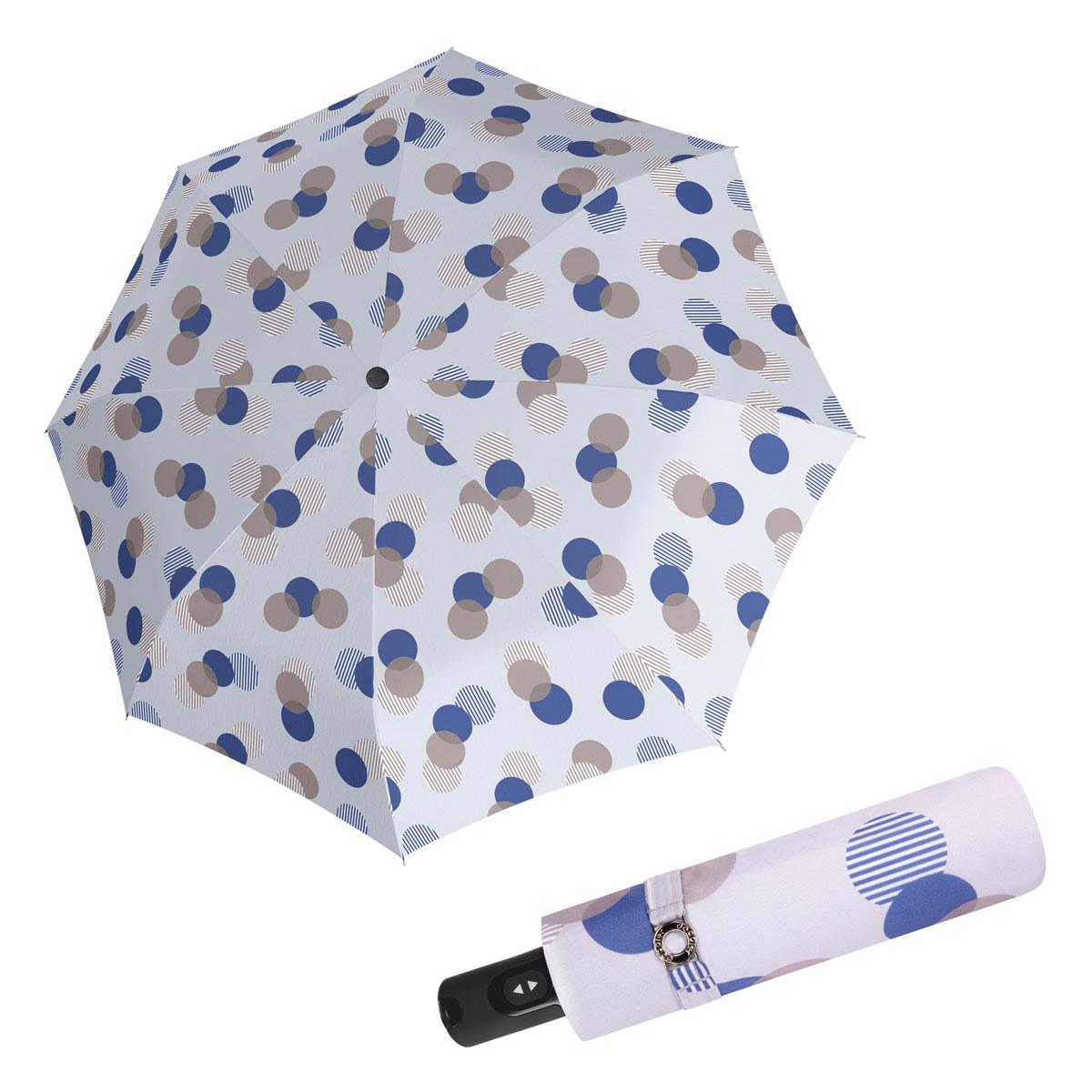 Doppler Magic Carbonsteel MOTION - dámský skládací plně-automatický deštník modrá