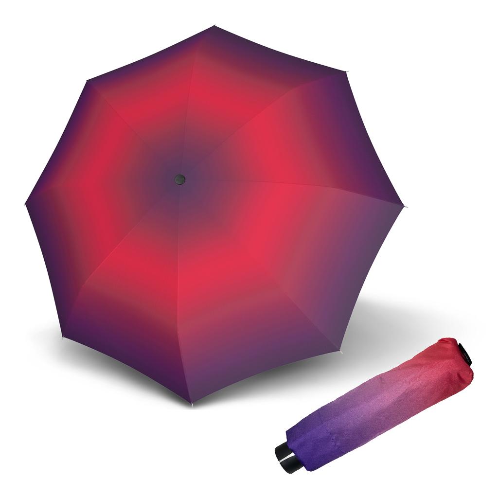 Doppler Mini Fiber NEW YORK - dámský skládací mechanický deštník růžovo-fialová