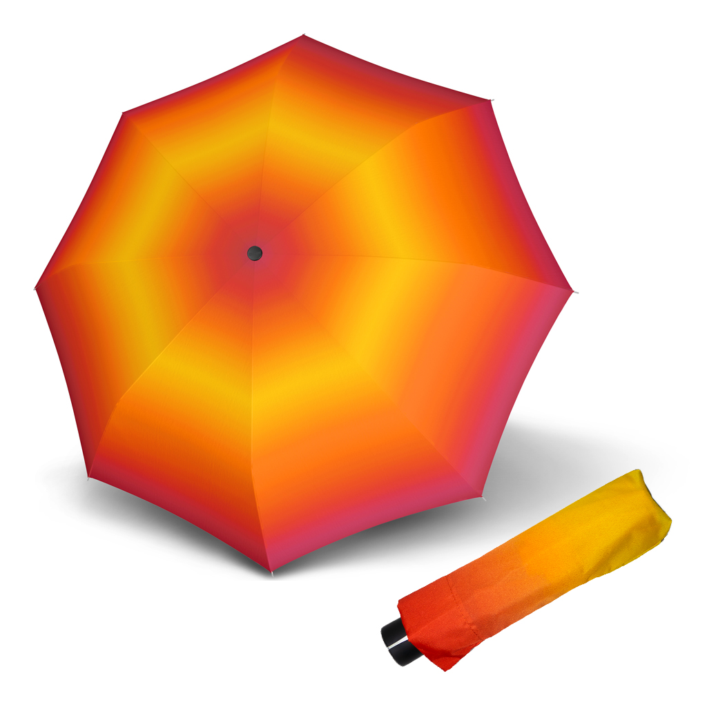 Doppler Mini Fiber NEW YORK - dámský skládací mechanický deštník oranžovo-žlutá