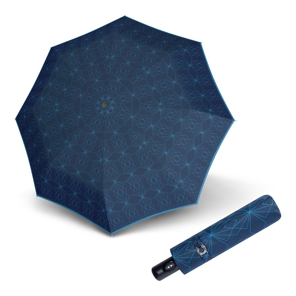 Doppler Magic Carbonsteel PARIS - dámský skládací plně-automatický deštník modrá
