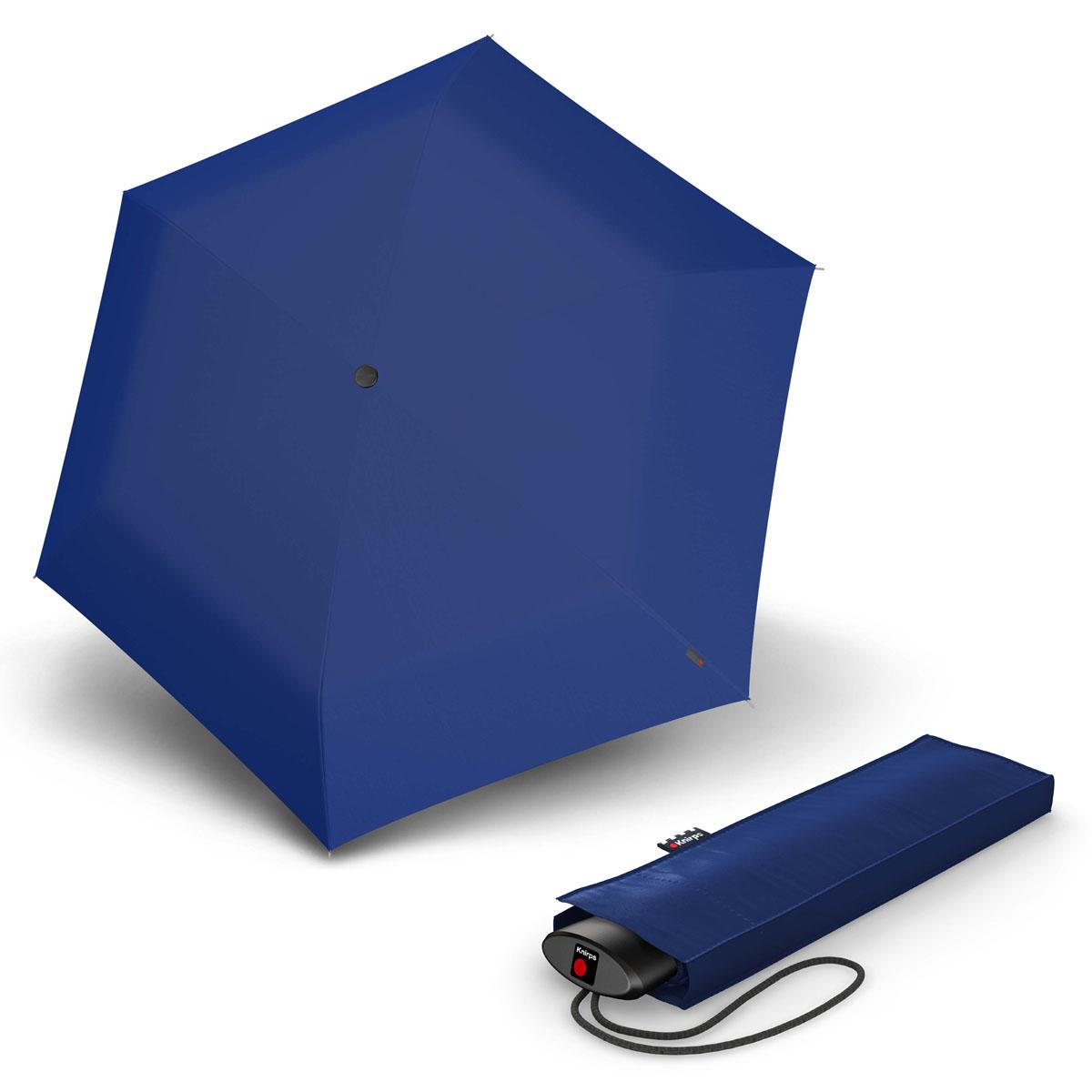 Knirps AS.050 Slim Small Manual - dámský skládací plochý deštník modrá